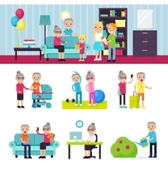 Senior People Collection vector image vector image