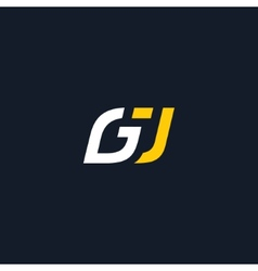 Sign the letter G and J vector image