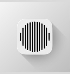 white technology app icon template vector image vector image