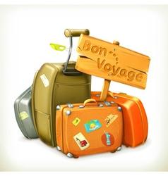 Bon voyage travel icon vector image