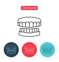 dental prosthesis tooth orthopedics sign vector image vector image