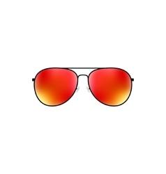 Glossy aviator sunglasses design vector