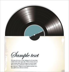 Old vinyl record in a paper case vector image