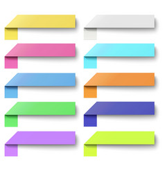 Set of color oblong sticker banners isolated vector image