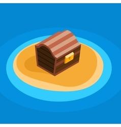 Treasure chest icon vector image vector image