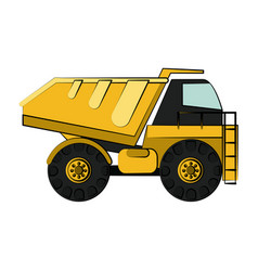 construction heavy machinery icon image vector image vector image