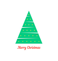 merry christmas with abstract xmas tree vector image vector image