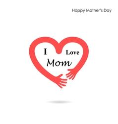 Mother day Icon Logo Holiday Icon Logo Heart Icon vector image