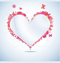 paper heart vector image vector image
