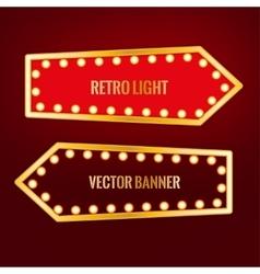 Retro banner image vector image