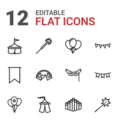 12 festival icons vector