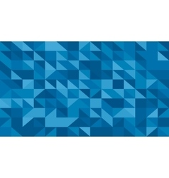 Abstract blue lowploly of many triangles vector image