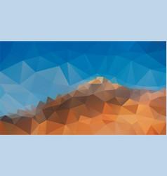 Abstract polygonal background blue sky mountain vector