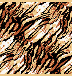 Abstract tiger skin wild animal background vector