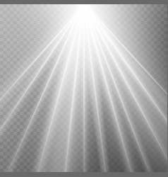 abstract white laser beam transparent isolated on vector image