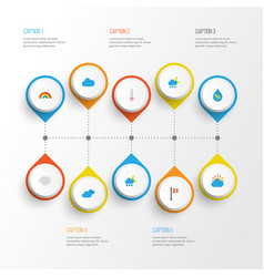 Air flat icons set collection of banner vector