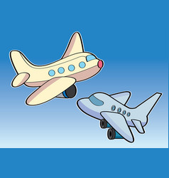 Airplane aircraft aeroplane plane cartoon vector