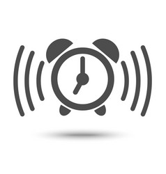 Alarm clock ringing icon vector