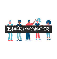 american black women and men protesters vector image