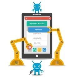 Application user interface development concept vector