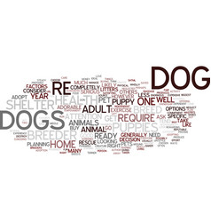 are you ready for a dog text background word vector image