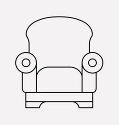 Armchair icon line element of vector