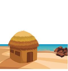 Beach and island scenery vector