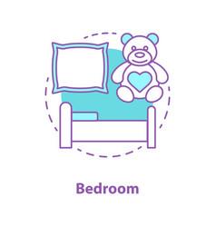 bedroom interior concept icon vector image
