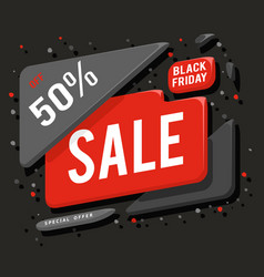 big black friday sale advertising banner layout vector image