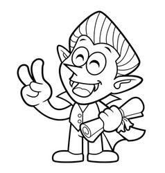 Black and white dracula mascot quality warranty vector