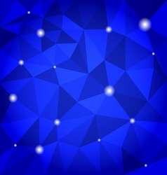 Blue abstract triangle background vector image
