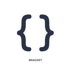 Bracket icon on white background simple element vector