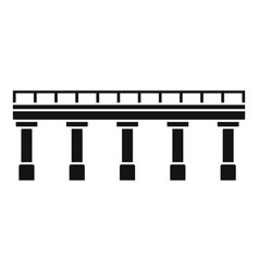 bridge icon simple style vector image