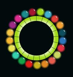 bright colorful circular scheme vector image