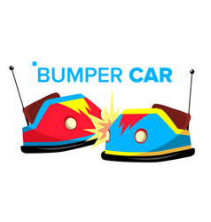 Bumper car attraction hotroad amusement vector