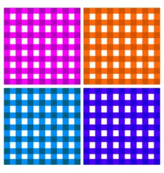checkered plaid vector image