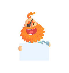 Cheerful pirate with red beard and eye patch vector