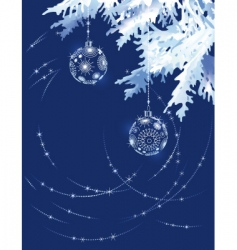 christmas tree branch in blue vector image