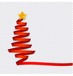 christmas tree made from vector image