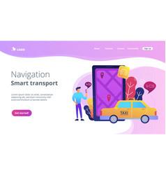 city navigation apps smart city concept vector image