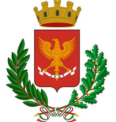 Coat of arms of palermo of sicily italy vector