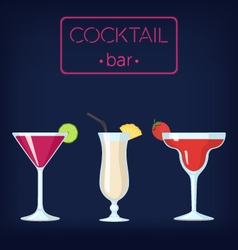 Cocktail bar set1-380 vector image