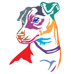 colorful decorative portrait of dog jack russell vector image