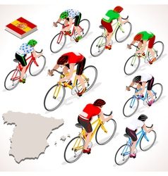 Cyclist 2016 Vuelta Espana Isometric People vector