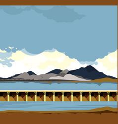 dam water landscape vector image