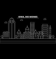Des moines silhouette skyline usa - des moines vector