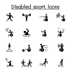 Disabled sport icon set graphic design vector