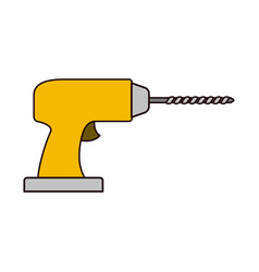 drill tool icon colorful silhouette vector image