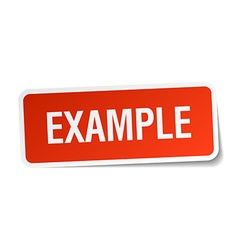 Example red square sticker isolated on white vector