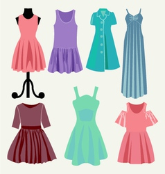 Fashion beautiful clothes collection vector image